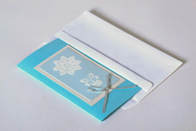 Handmade Christmas postcard photo 2