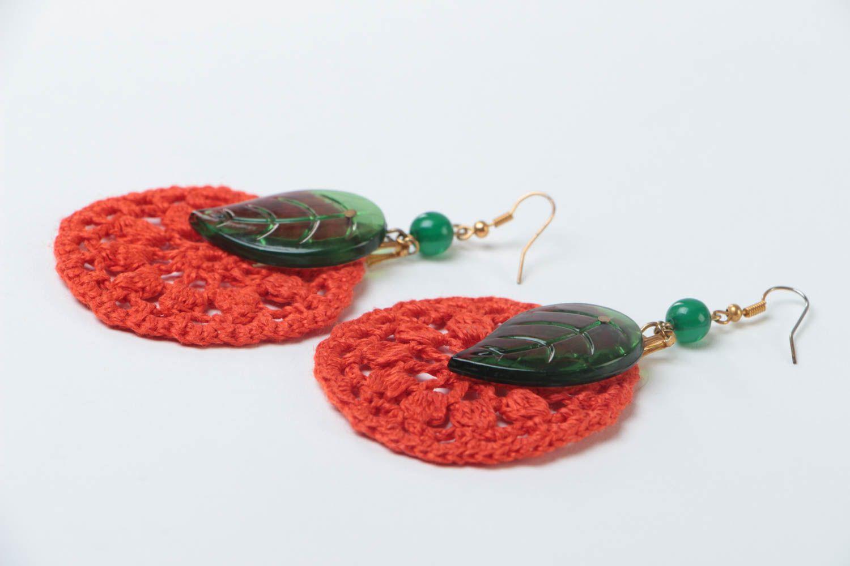 Beautiful handmade jewelry stylish cute accessory designer unusual earrings photo 3