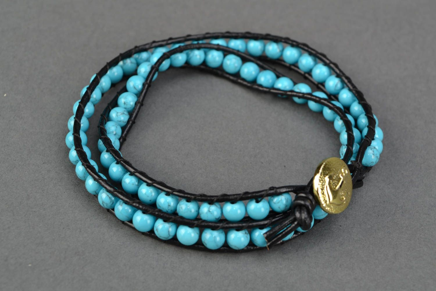 Natural turquoise bracelet photo 4