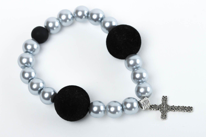 Handmade bracelet glass accessory unusual bracelet for girls designer jewelry photo 2