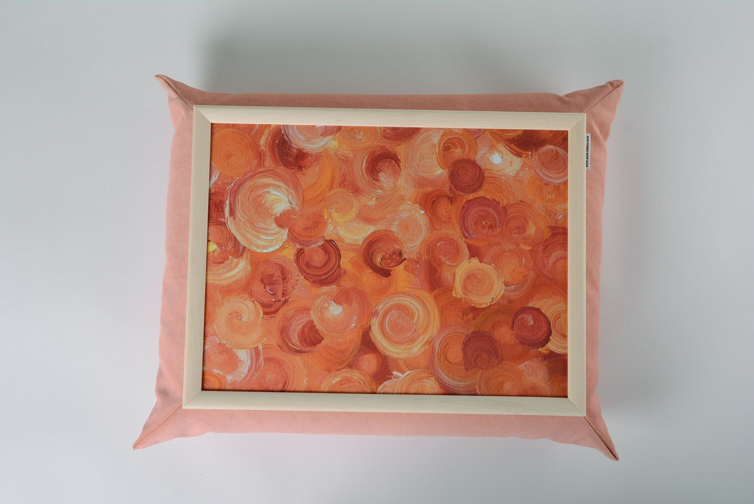 hangers and Coat Racks Handmade decorative tray cushion in gentle pink color with picture home decor - MADEheart.com