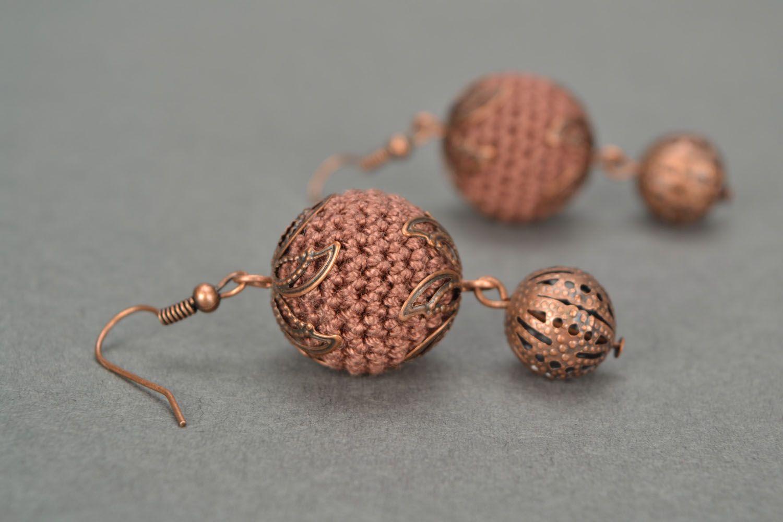 Crocheted earrings Juniper Balls photo 1