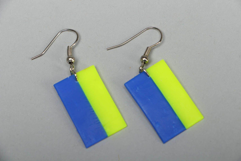 Polymer clay earrings in Ukrainian style photo 1