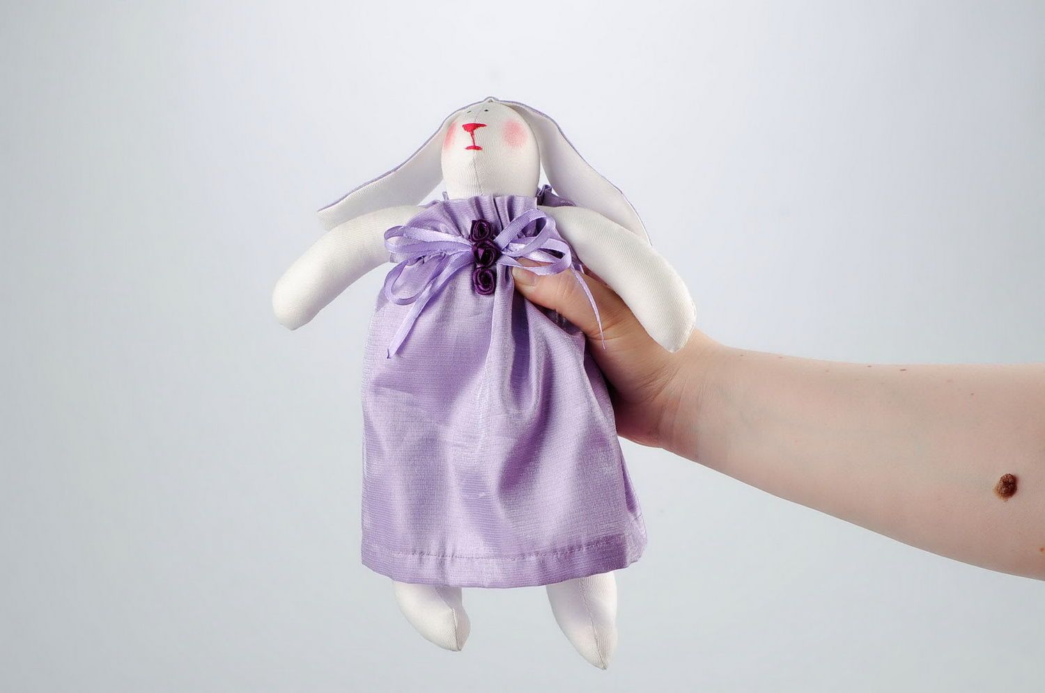 Soft toy Hare girl photo 2