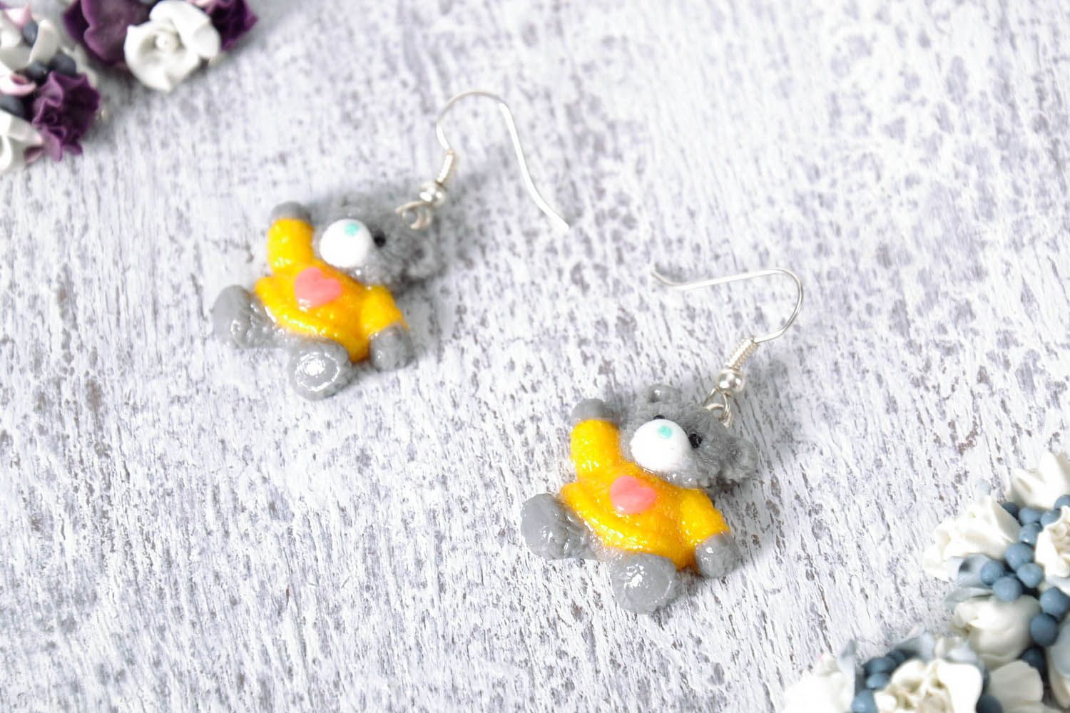 polymer clay earrings Earrings