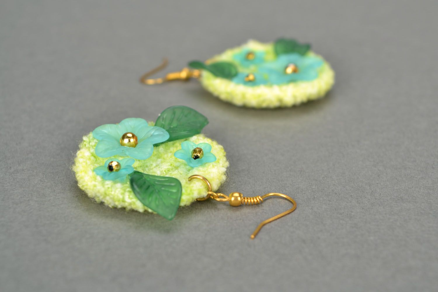 Crochet earrings Tenderness photo 1