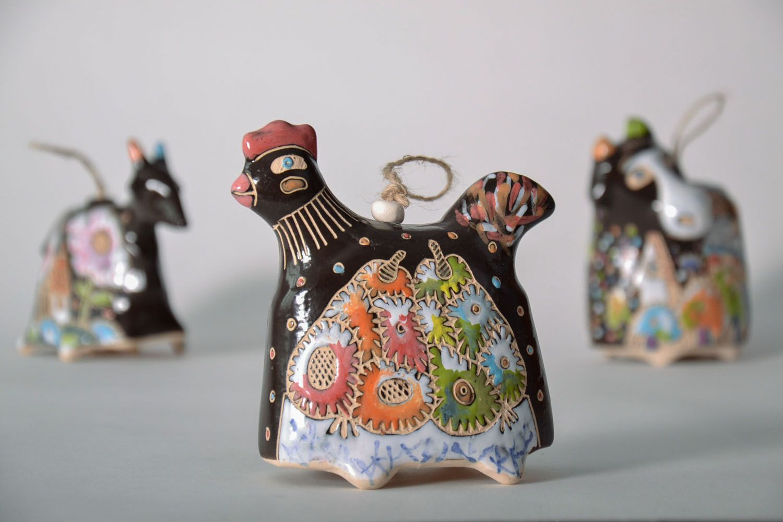 Indoor bell pendant Rooster photo 1