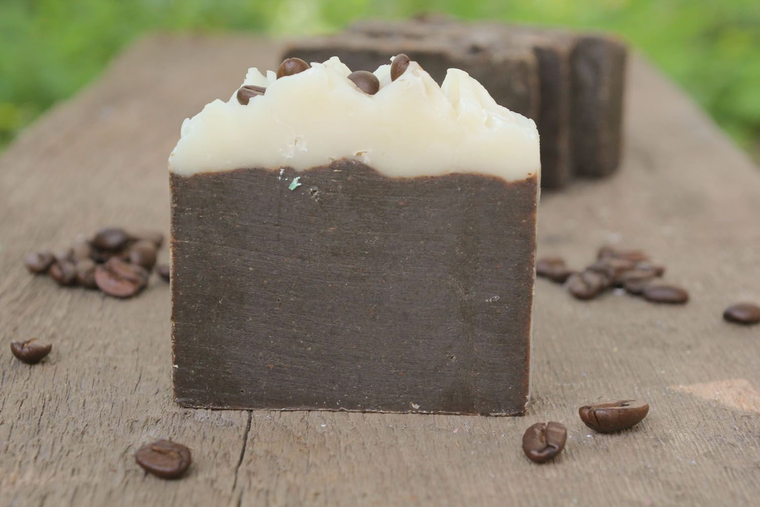 Handmade soap with cocoa and coffee photo 5