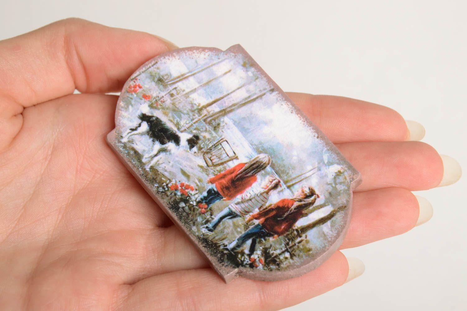 Unusual handmade magnet kitchen supplies decoupage ideas decorative use only photo 4