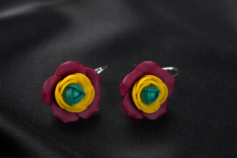 Flower earrings  photo 2