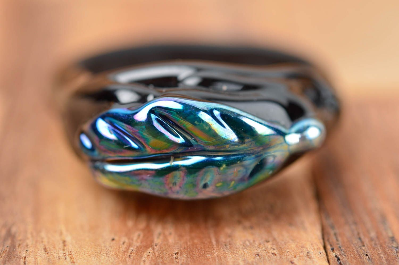 Designer jewelry handmade glass seal ring fashion rings fashion accessories photo 2