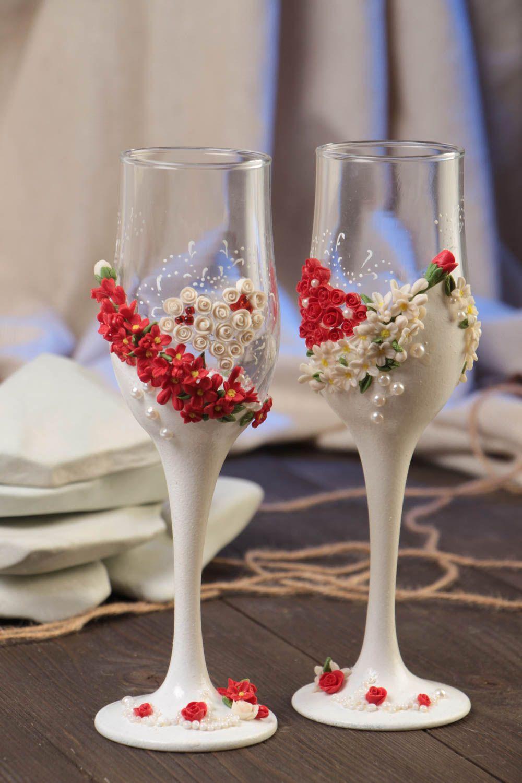 Madeheart copas para novios hechas a mano originales 2 for Copas decoradas a mano