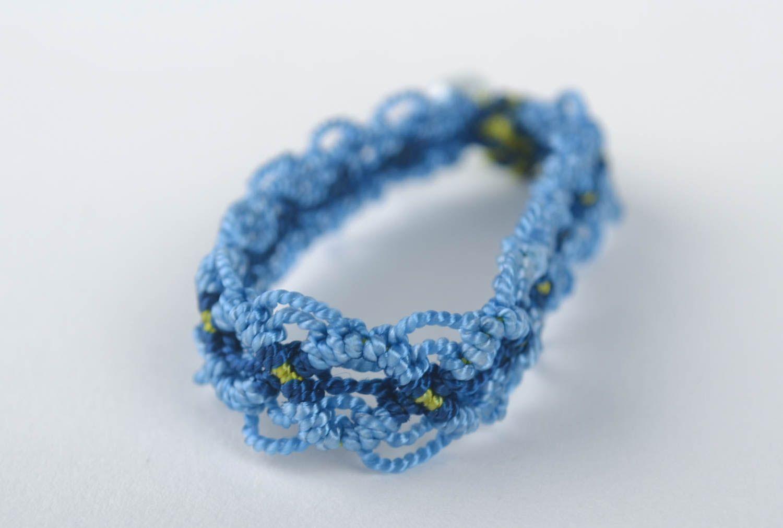 Модный браслет ручной работы браслет на руку дизайнерское украшение синий фото 2