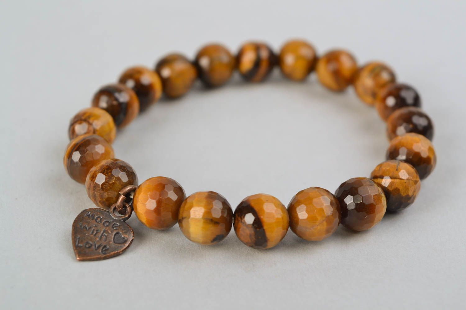 Interesting bracelet with brown agate photo 3