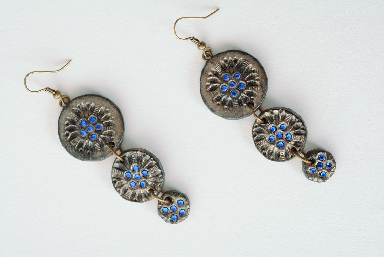 Fashionable polymer clay earrings photo 5