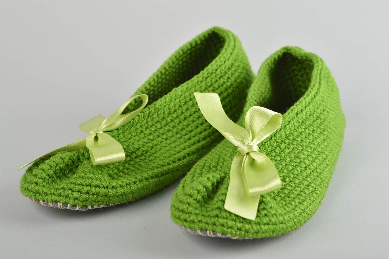 Madeheart zapatillas de casa hechas a mano a crochet calzado femenino regalos originales - Zapatillas para casa ...