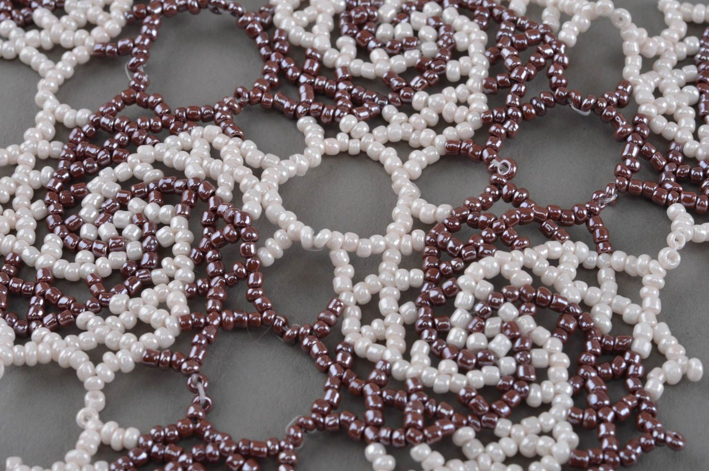 Handmade beaded necklace beautiful accessory elegant designer jewelry photo 5