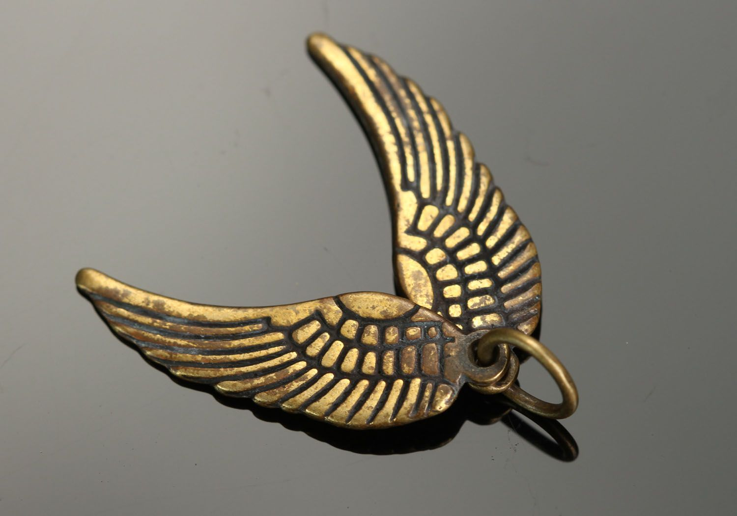 Bronze pendant Wings photo 1