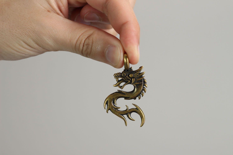 Bronze pendant Dragon photo 4