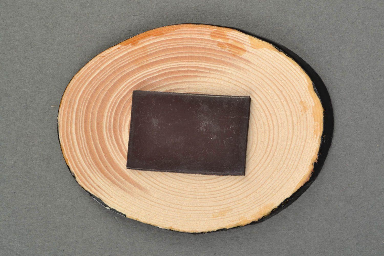 Wooden fridge magnet with Petrikivka painting photo 3