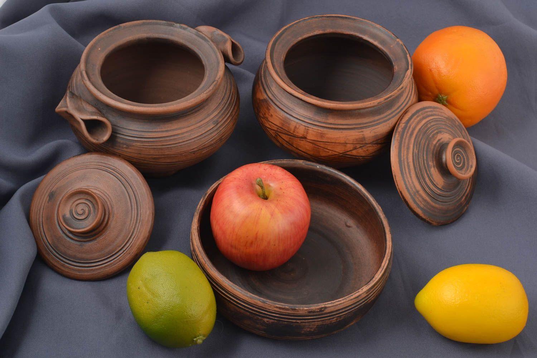 Madeheart cazuelas de barro hechas a mano vajilla de barro utensilios de cocina originales - Utensilios de cocina originales ...