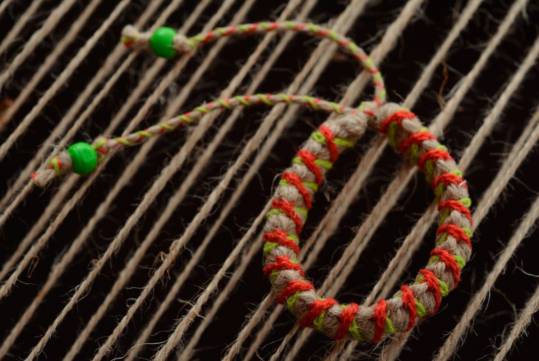 Kid's jute bracelet photo 3