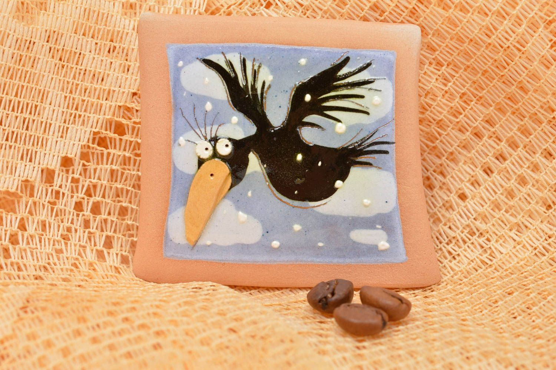 Handmade fridge magnet stylish ceramic souvenir kitchen decor cute fridge magnet photo 1