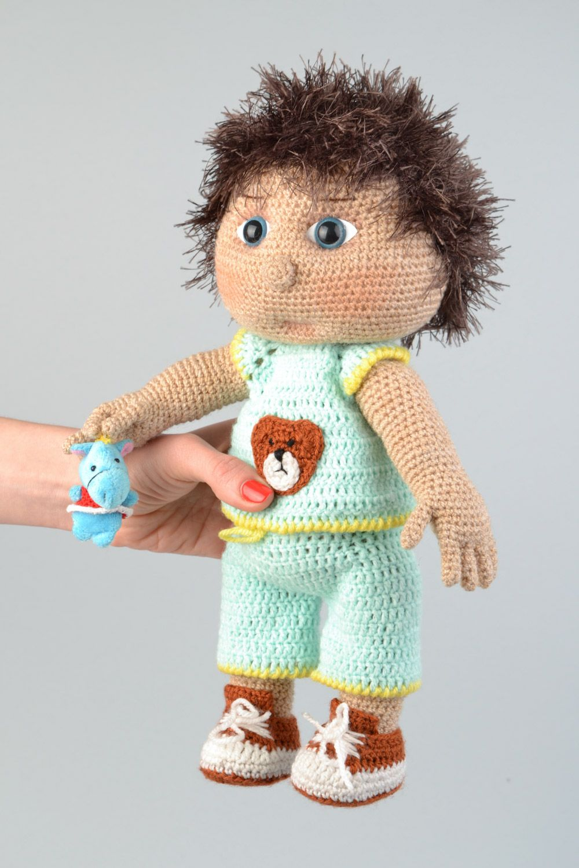 Кукла мальчик крючком схемы и описание