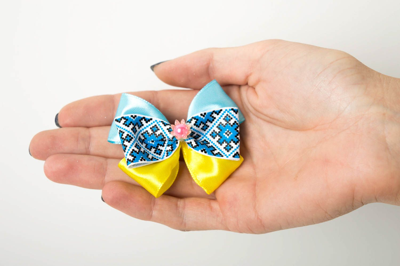 Beautiful handmade textile barrette bow hair clip childrens hair bow ideas photo 4