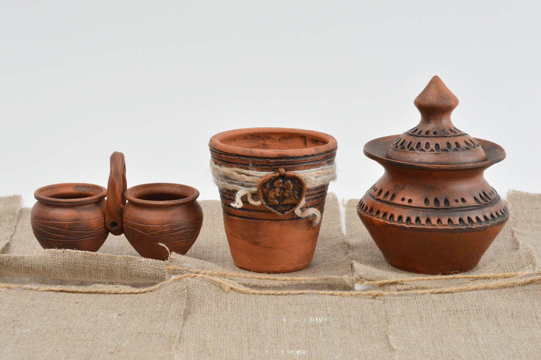 Madeheart tarros de barro hechos a mano vasijas de barro originales cer mica artesanal - Vajilla ceramica artesanal ...