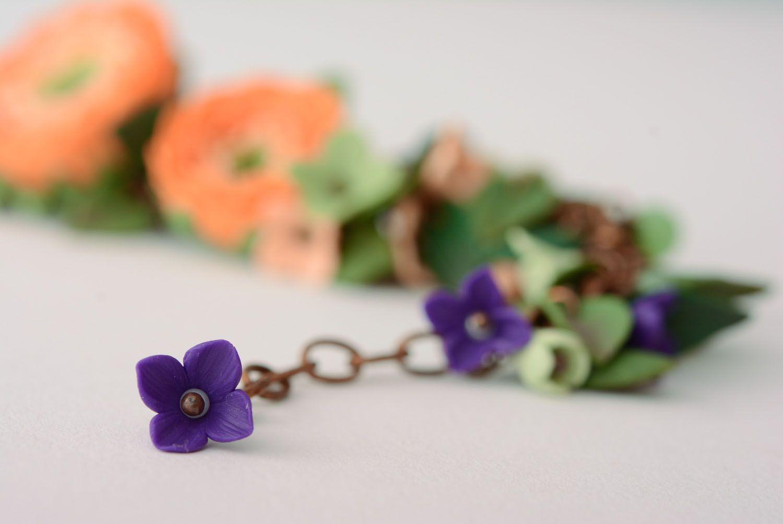 polymer clay bracelets Polymer clay bracelet Flowers - MADEheart.com