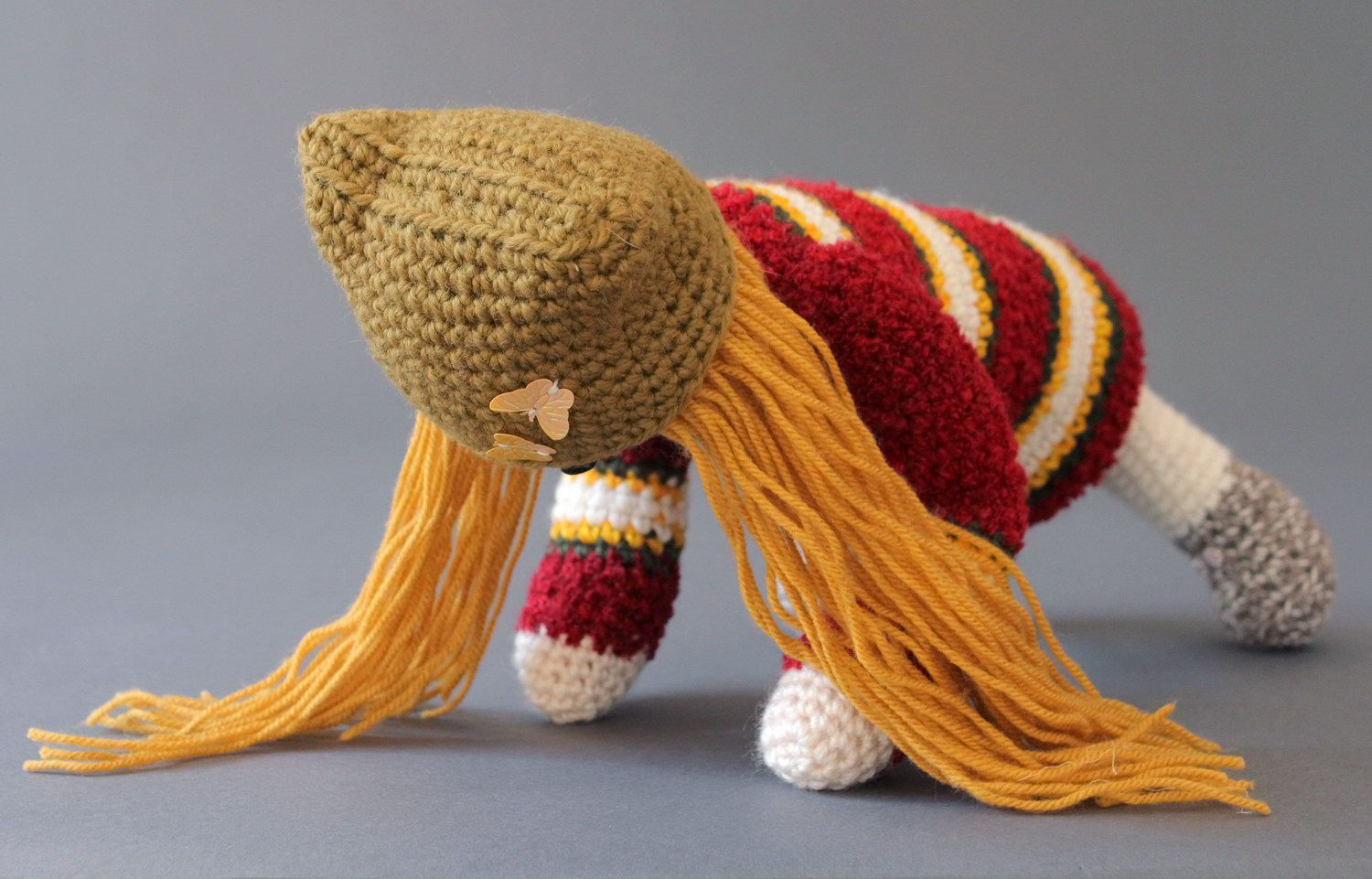Striped knitted doll  photo 4
