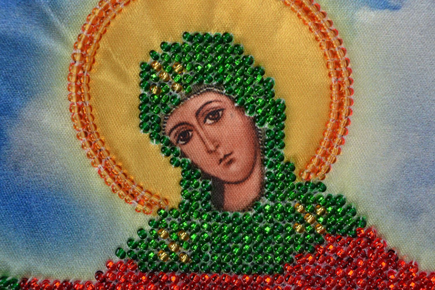 embroidery with beads Embroidered beaded icon - MADEheart.com