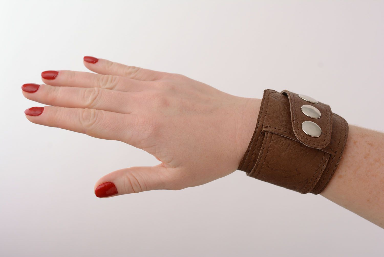 Leather bracelet unisex photo 1