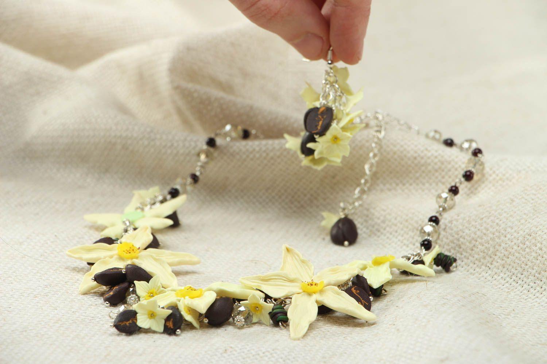Plastic jewelry set Vanilla photo 4