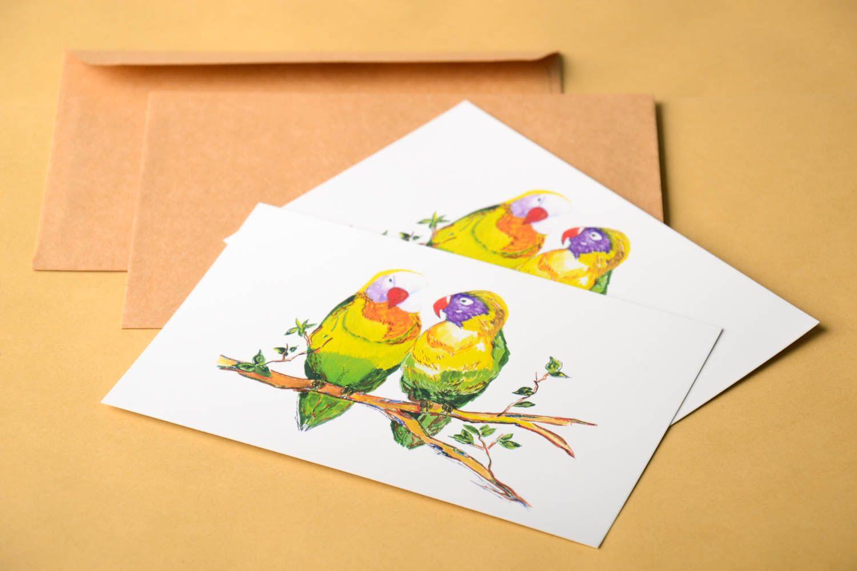 Handmade greeting cards birthday cards designer postcards modern painting photo 1