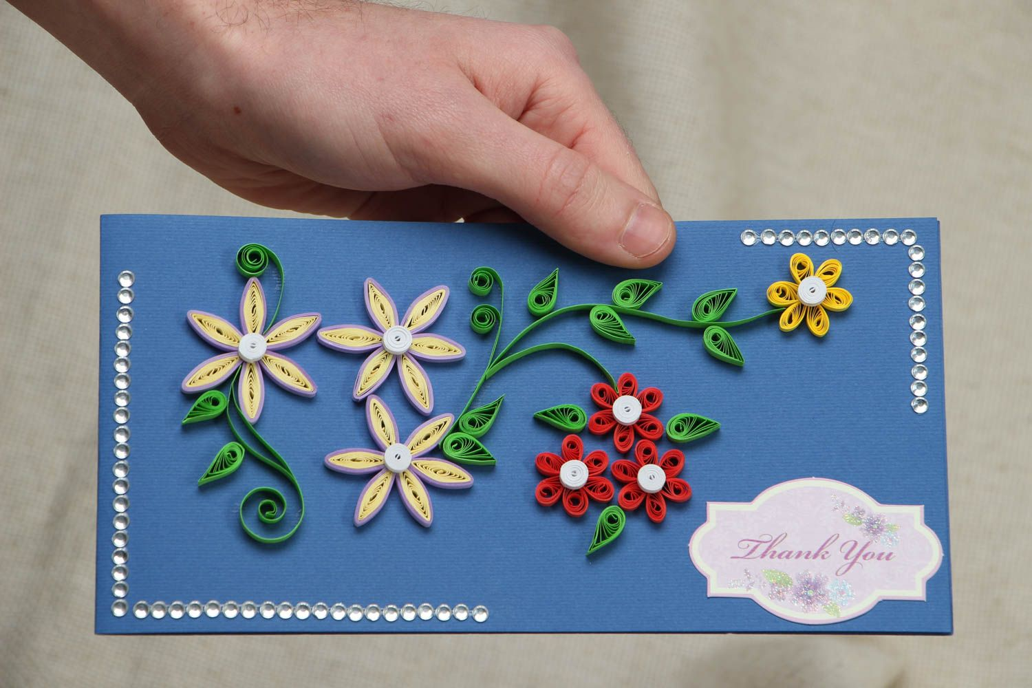 Handmade quilling greeting card photo 4
