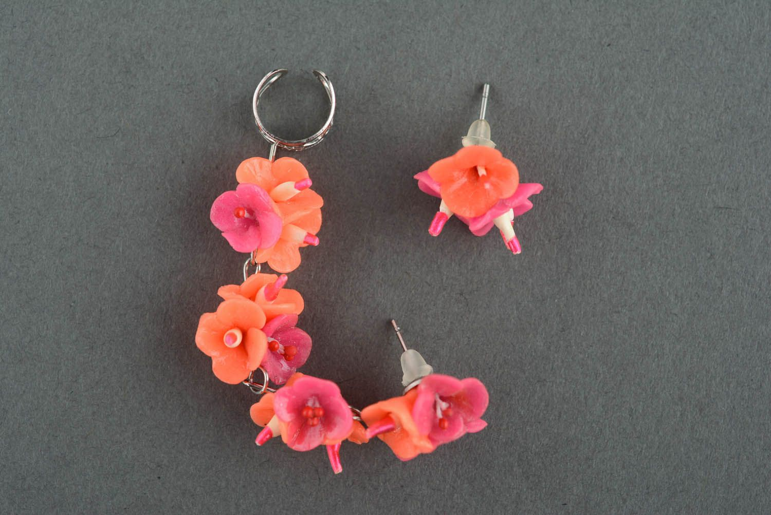 Cuff earrings Coral Colors photo 2