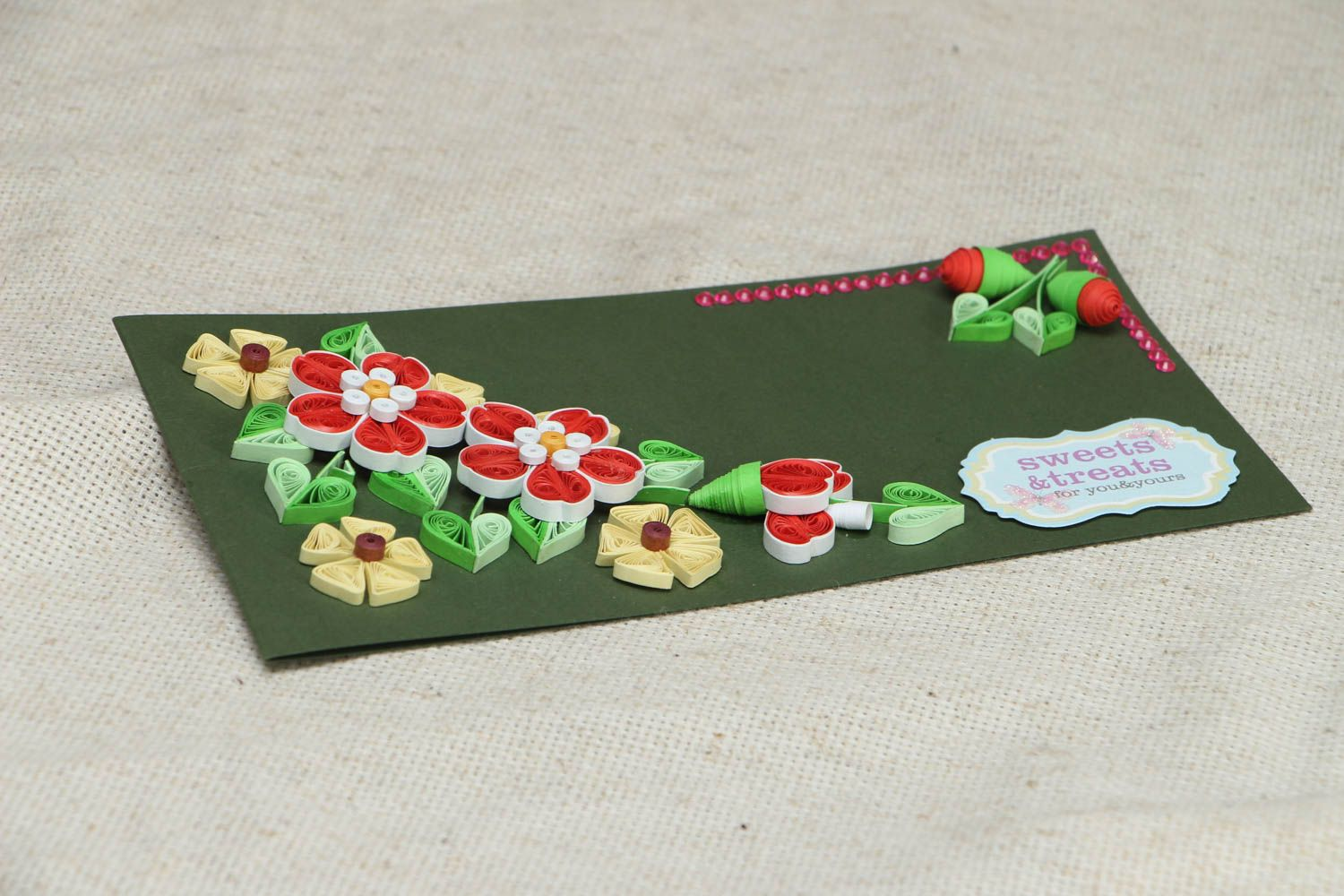 Quilling greeting card photo 3