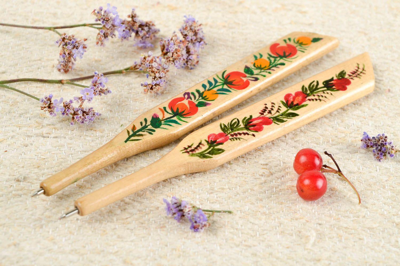 Madeheart u003e stylos bois fait main fournitures bureau 2 pièces