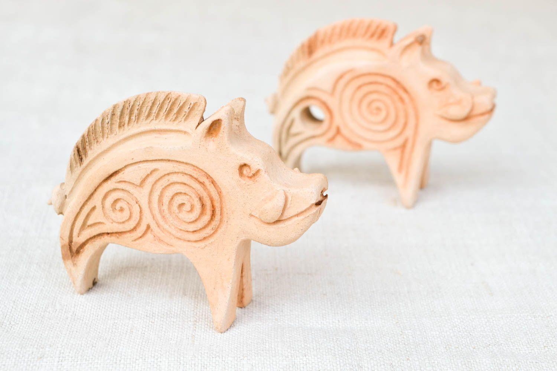 Ceramic whistle handmade clay figurine ethnic musical instruments folk whistle photo 4