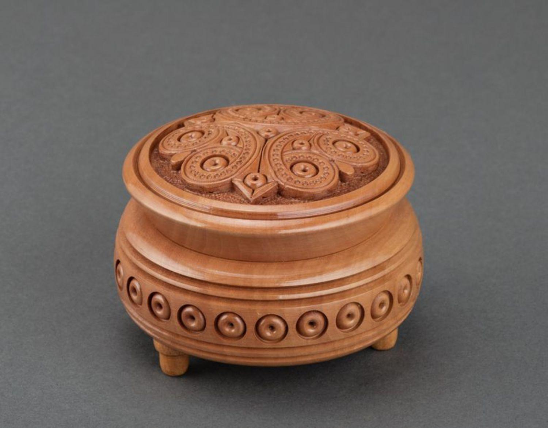Деревянная круглая шкатулка своими руками 16