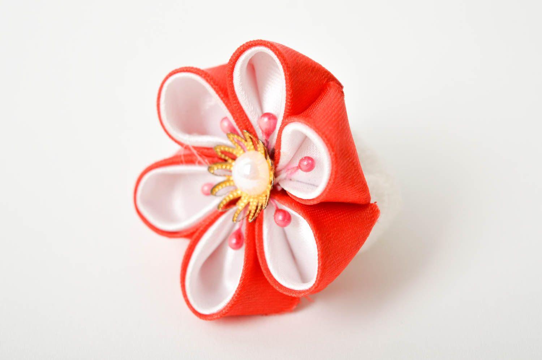 Handmade designer hair tie unusual flower accessory elegant cute hair tie photo 3