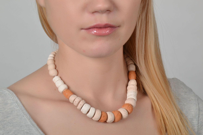 Ceramic beaded necklace  photo 2