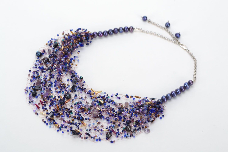 Gemstone beaded necklace photo 2