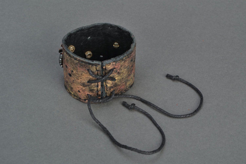 Handmade leather bracelet photo 5
