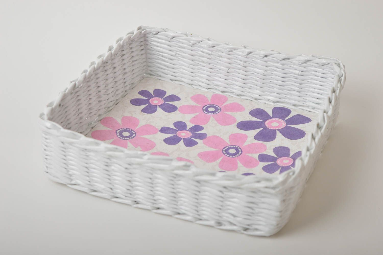 Handmade decorations woven basket paper basket gifts for women home decor photo 3