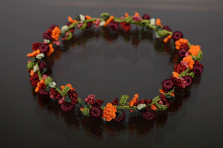 Handmade crochet necklace Blooming Garden photo 1