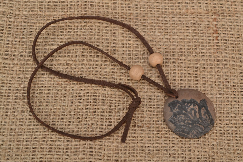 Homemade clay pendant photo 1