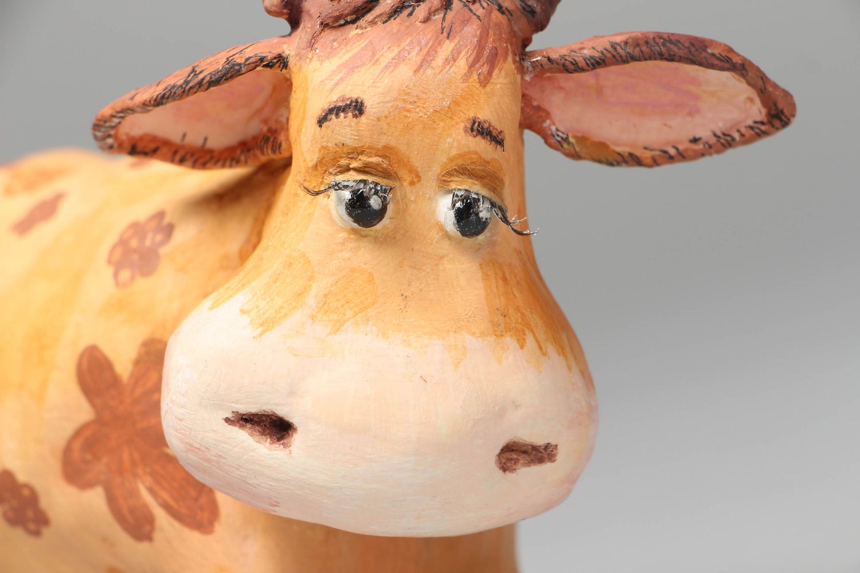 Paper mache figurine Cow photo 2